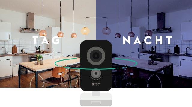 Smart Home Innenkamera mit Nachtsicht.