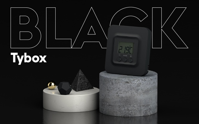 Delta Dore Thermostatanschluss Tybox black 5101